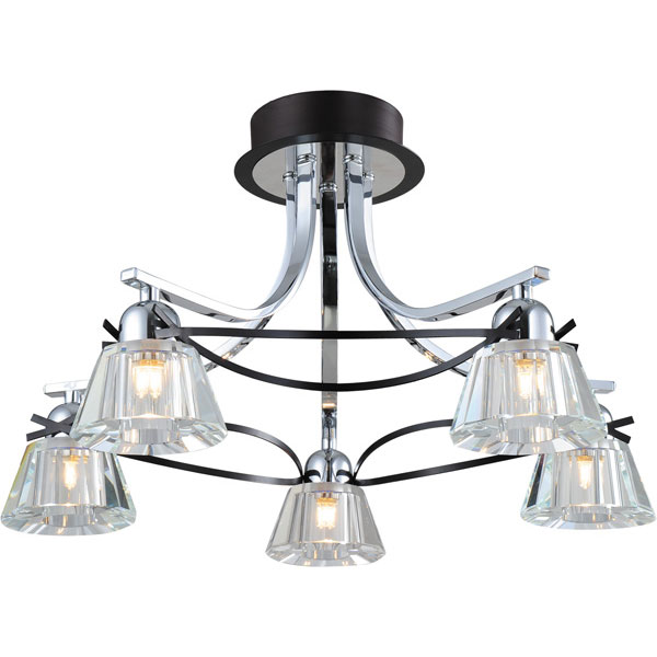 Потолочная люстра N-Light N-Light 8910 89101-5 chrome + wengue (blue LED) yas5 5 n