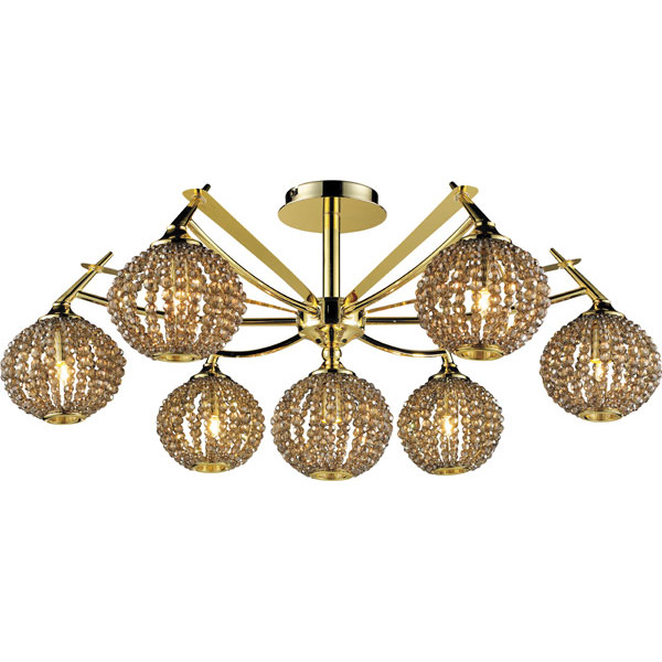 Потолочная люстра N-Light N-Light 917 917-07-33 gold + brown crystal фондурин 917
