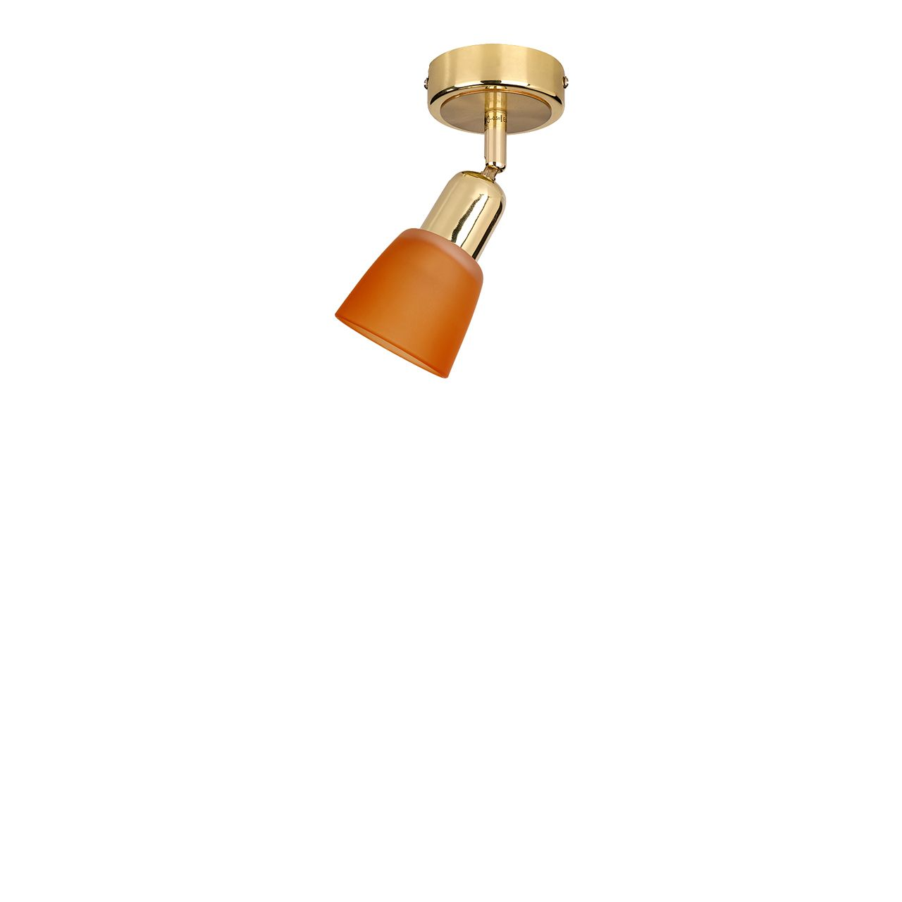 Светильник спот Luce Solara 5046 5046/1PA Gold/orange pyrex 813b000 5046