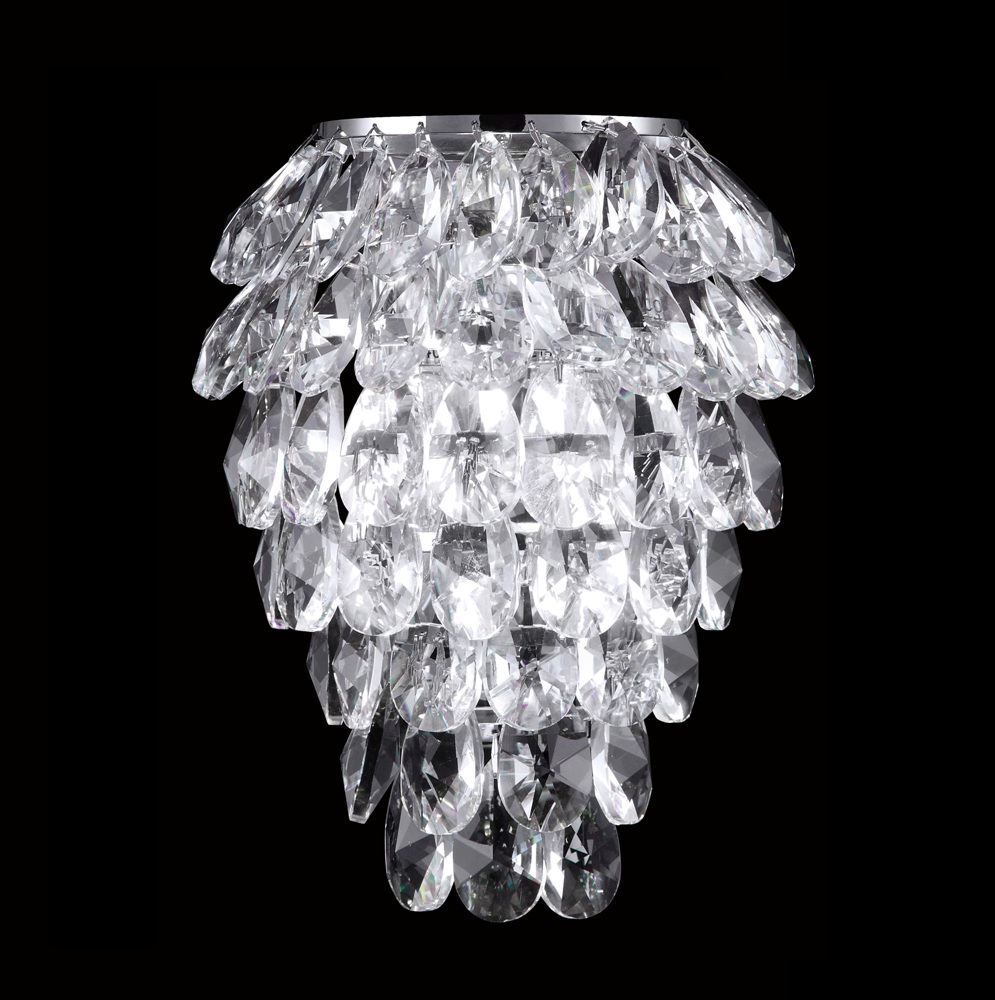 Настенное бра Crystal Lux Charme CHARME AP2+2 LED CHROME/TRANSPARENT бра crystal lux solaris ap2 chrome
