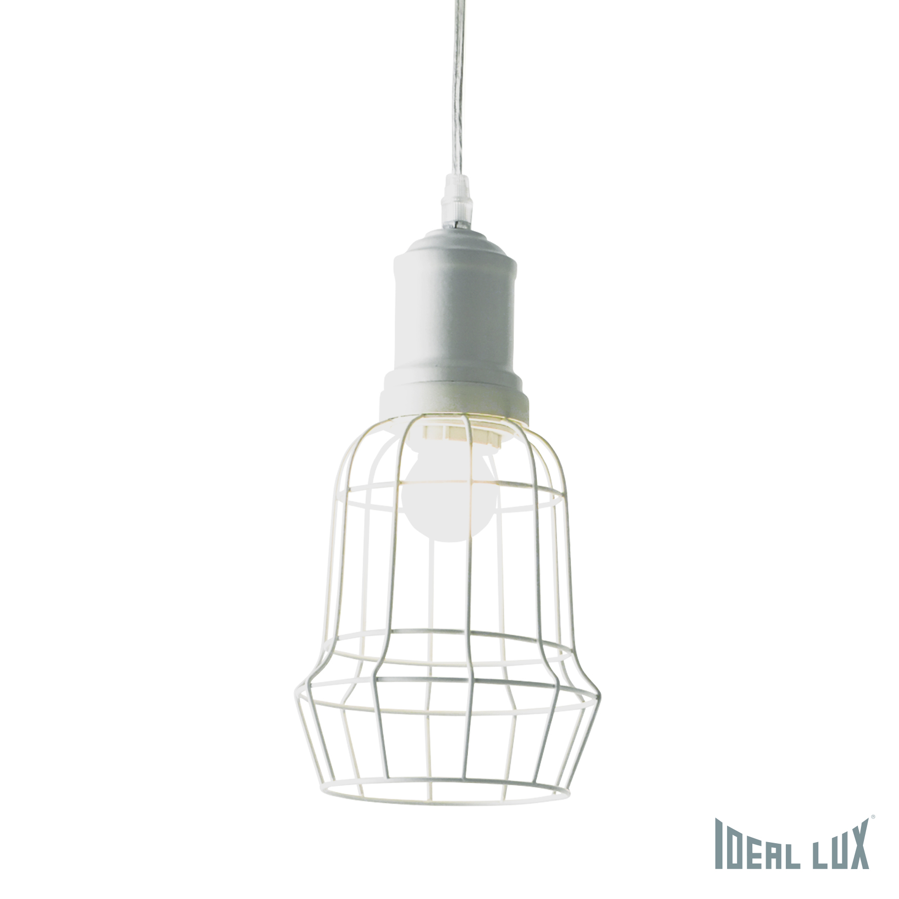 Светильник подвесной Ideal Lux Cage CAGE SP1 SQUARE BIANCO namat подвесной светильник ideal lux cage sp1 plate