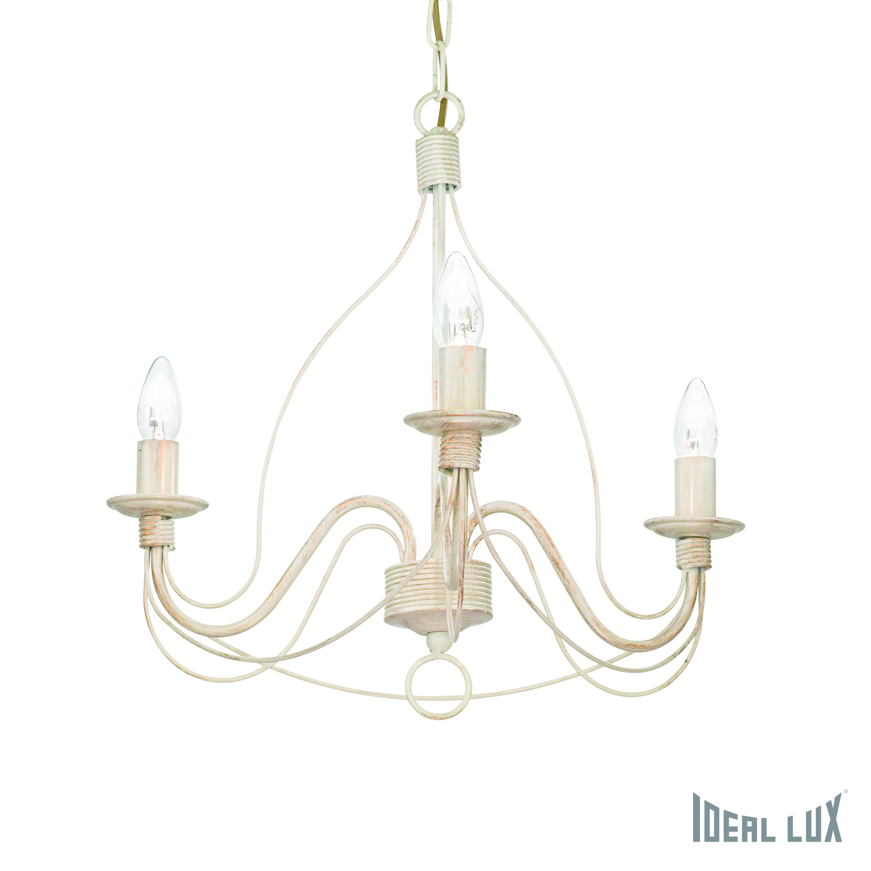 Подвесная люстра Ideal Lux Corte CORTE SP3 BIANCO ANTICO ideal lux люстра ideal lux queen sp3