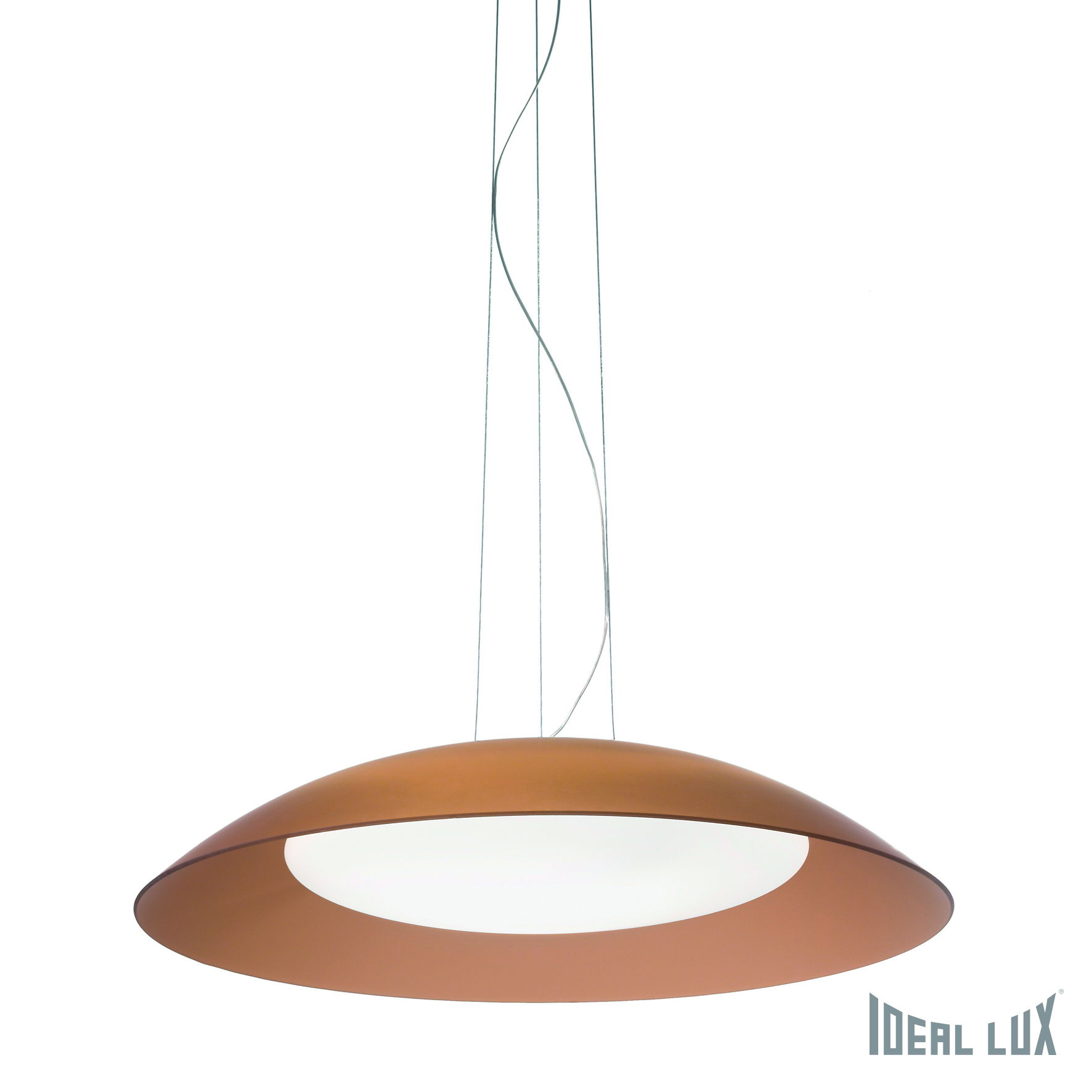 Светильник подвесной Ideal Lux Lena LENA SP3 D64 MARRONE ideal lux люстра ideal lux le roy sp3