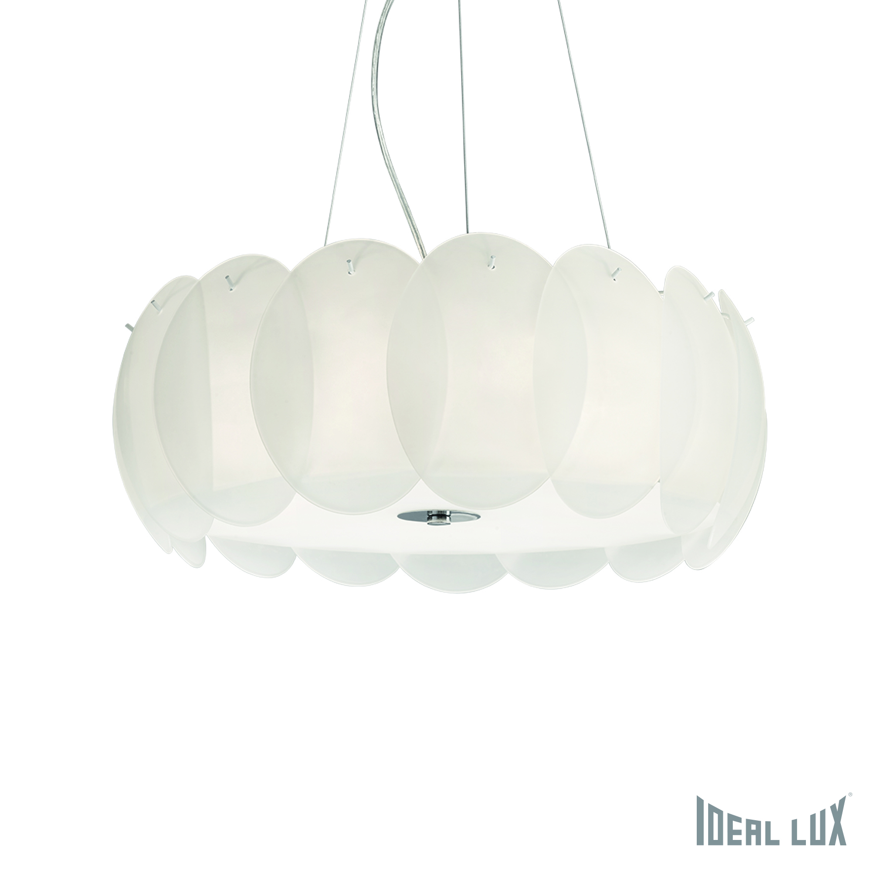 Светильник подвесной Ideal Lux Ovalino OVALINO SP8 BIANCO ideal lux подвесной светильник ideal lux leaves sp8 bianco