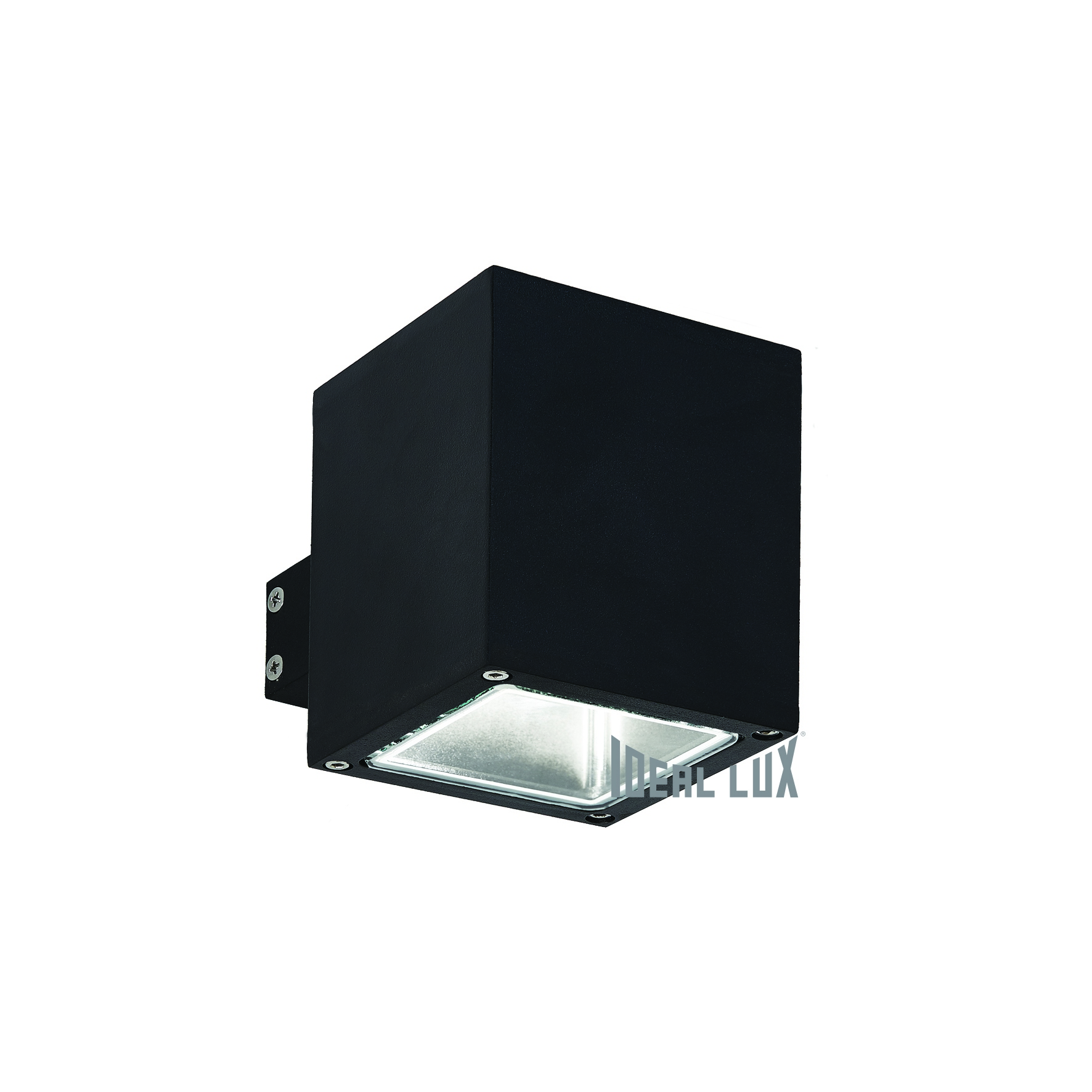 Настенное бра Ideal Lux Snif SNIF AP1 SQUARE NERO светодиодный спот ideal lux page ap1 square nero