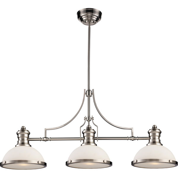 Люстра на штанге N-Light 723-03-12CH Polished Nickel