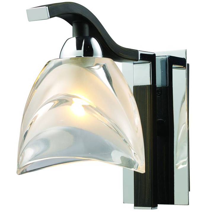 Настенное бра N-Light N-Light 416 416-01-11 chrome + dark wengue atlanta ath 2531 нержавейка
